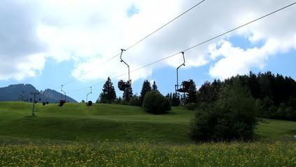 Ski Lift - running - empty in summer