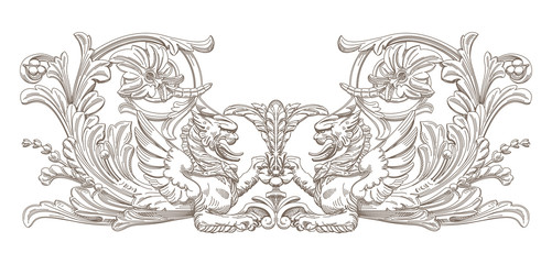 Griffin. Vector decorative element.