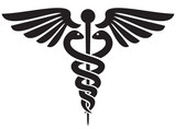 caduceus medical symbol black