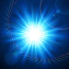 Abstraction light with lens flare vector background