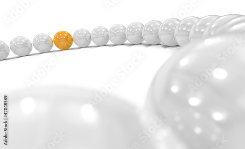 3D Orange Ball Focus 1