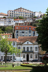 View of the  old houses in the town Coimbra. Portugal