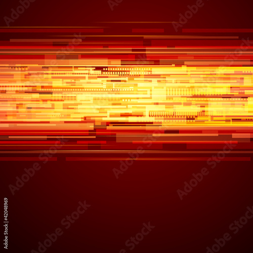 Abstract shiny technology lines and light vector background
