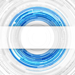 Abstract technology circles and transparent paper background