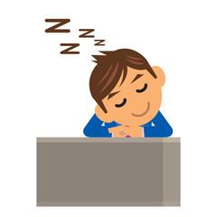 ビジネスマン イラスト 居眠り 仮眠