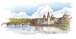 Detaily fotografie Panorama of Prague. View of Charles Bridge and the Vltava river