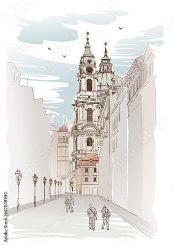 vektorskizze-von-sankt-nikolaus-kathedrale-in-prag