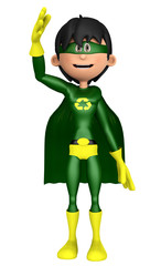 super eco man salute my friend