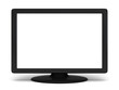 Blank screen tv or monitor on white background