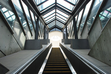 Escalator in underground passage
