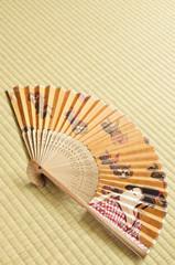 扇子 畳 日本画