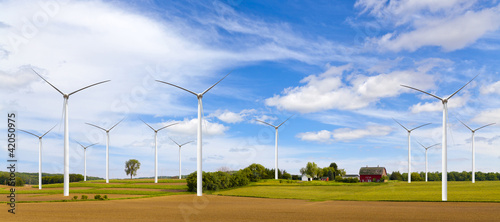 American Countryside With Windmill