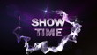 SHOW TIME Text in Particle (Double Version) Blue - HD1080