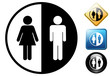 Unisex pictogram and icons