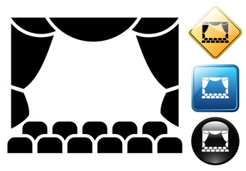 Theater pictogram and icons