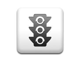 Boton cuadrado blanco simbolo semaforo