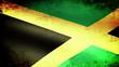 Jamaica Flag Waving, grunge look