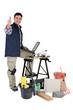 TIler stood by work-bench