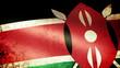 Kenya Flag Waving, grunge look