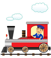 train with smile conductor thumb up
