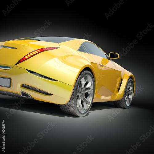 zolty-samochod-sportowy-non-branded-projekt-samochodu