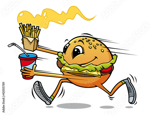 Running hamburger