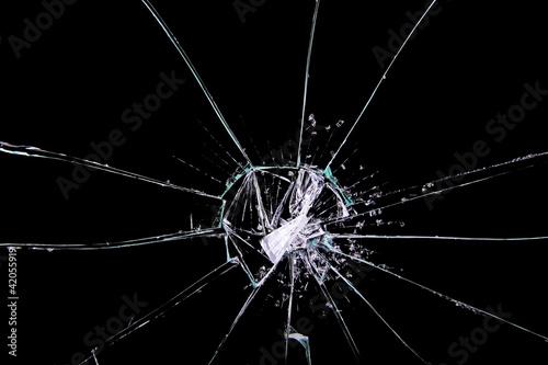popękane szkło