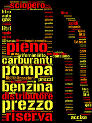 pompa di benzina tag cloud