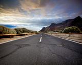Cracked mountain road, Canary Island Tenerife, Spain