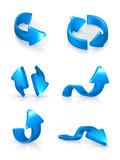 Blue arrows set