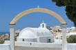Arch upon a chapel in Oia, Santorini, Greece