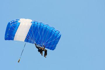 parachutist on sky