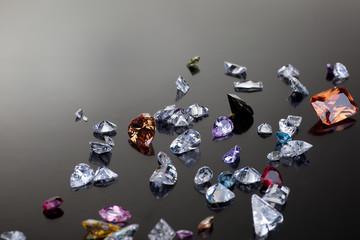 Set of many different gemstone