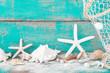 Urlaubsfeeling pur - Hintergrund in Türkis