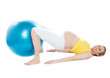Pregnant woman doing relaxation exercise