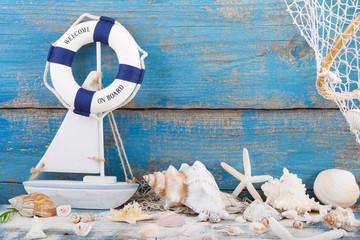 Welcome on Board - Maritimer Hintergrund