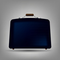 Blue suitcase icon vector illustration