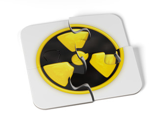 Danger radioactive sign puzzle