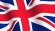 Waving flag of   United Kingdom