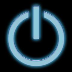 Standby - símbolo azul com brilho
