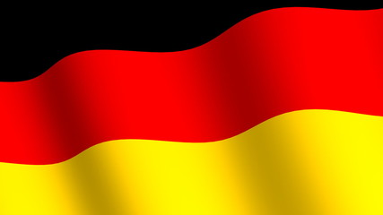 Waving flag of   Germany