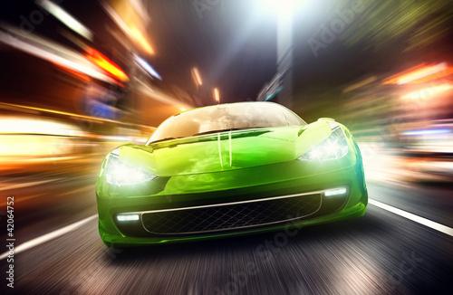 obraz PCV Samochód w nocy