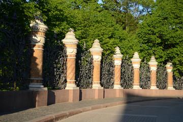 Decorative cast-iron fence