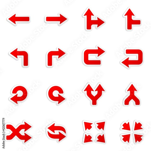 sticker arrow icons - vector design elements