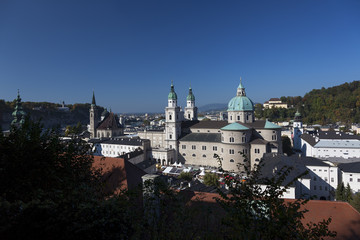 Salzburg cathedral and church towers