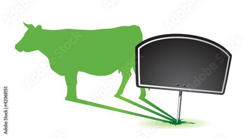 pancarte : lait ou fromage de vache