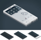 Vector isometric generic smartphone