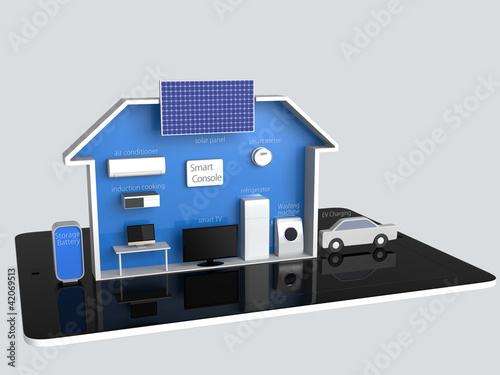 smart house and tablet  (with description)