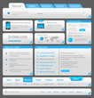 Web designers toolkit. Design elements collection. Vector.