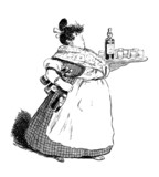 Humour : Waitress - Serveuse - Kellnerin poster
